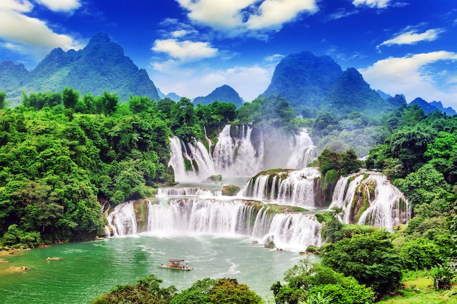 High Resolution Wallpaper | Ban Gioc–Detian Falls 900x598 px