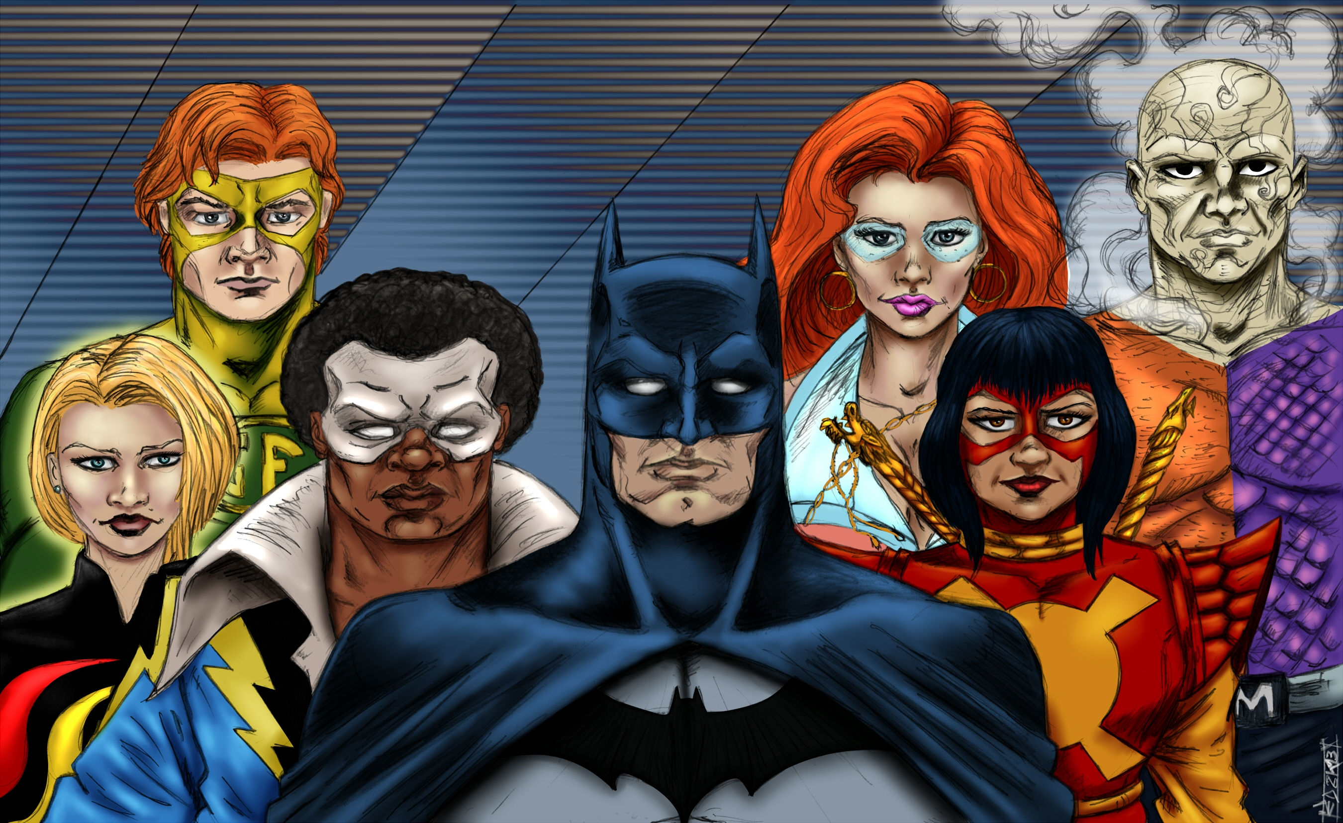 Nice Images Collection: Batman And The Outsiders Desktop Wallpapers