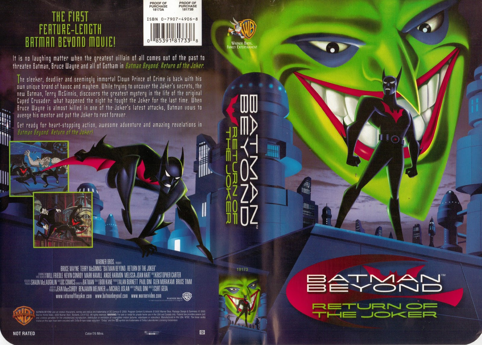 HD Quality Wallpaper | Collection: Cartoon, 1600x1146 Batman Beyond: Return Of The Joker