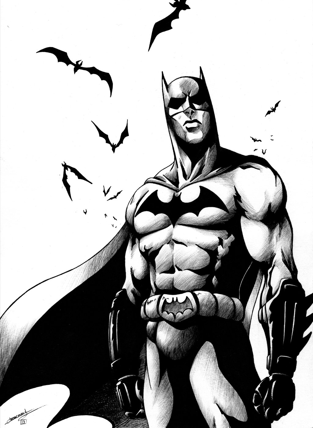 Nice Images Collection: Batman Black And White Desktop Wallpapers