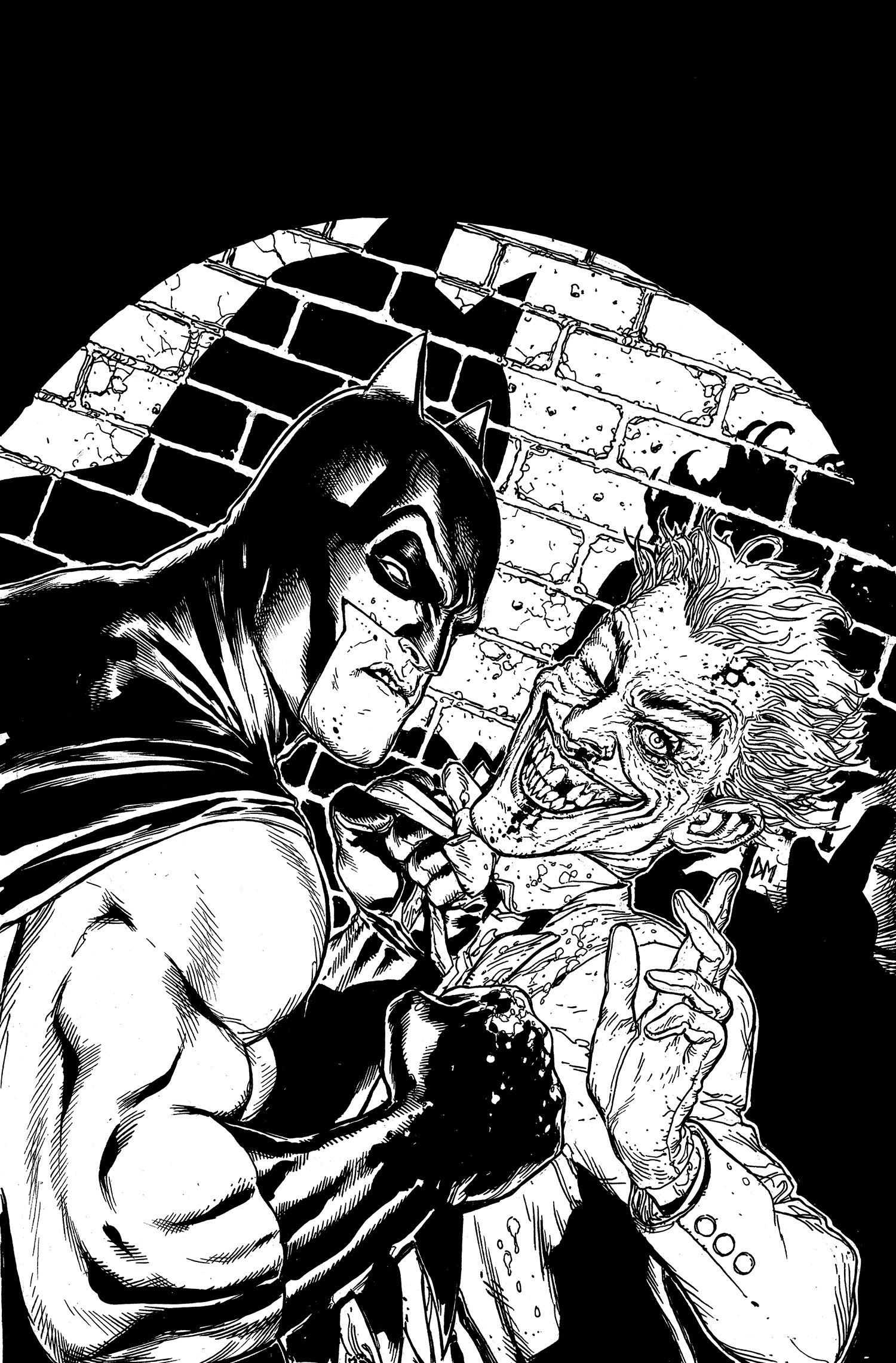 Nice wallpapers Batman Black And White 1500x2281px