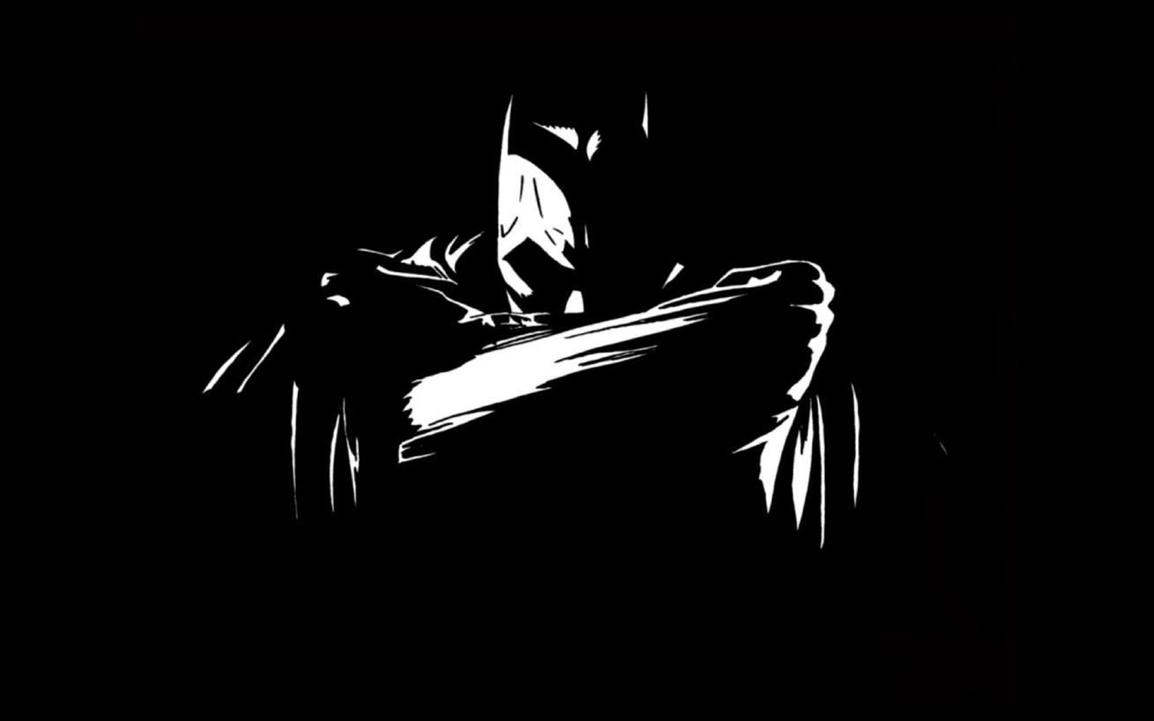Batman Black And White Backgrounds, Compatible - PC, Mobile, Gadgets| 1680x1050 px