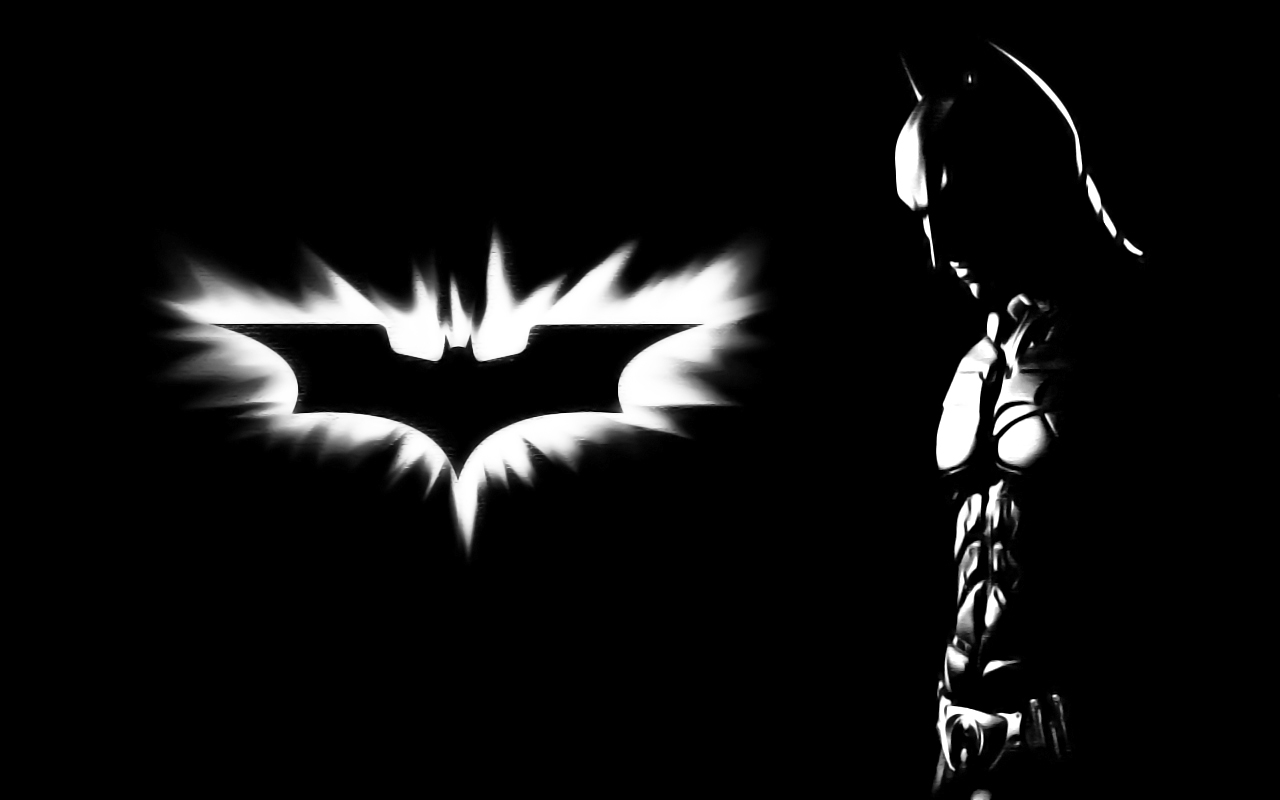 Nice wallpapers Batman Black And White 1280x800px