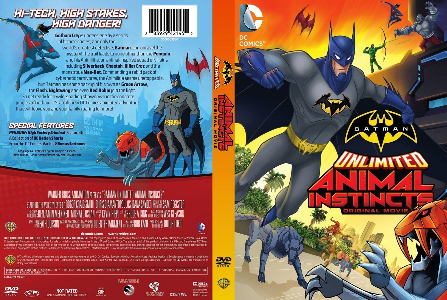 Nice Images Collection: Batman Unlimited: Animal Instincts Desktop Wallpapers