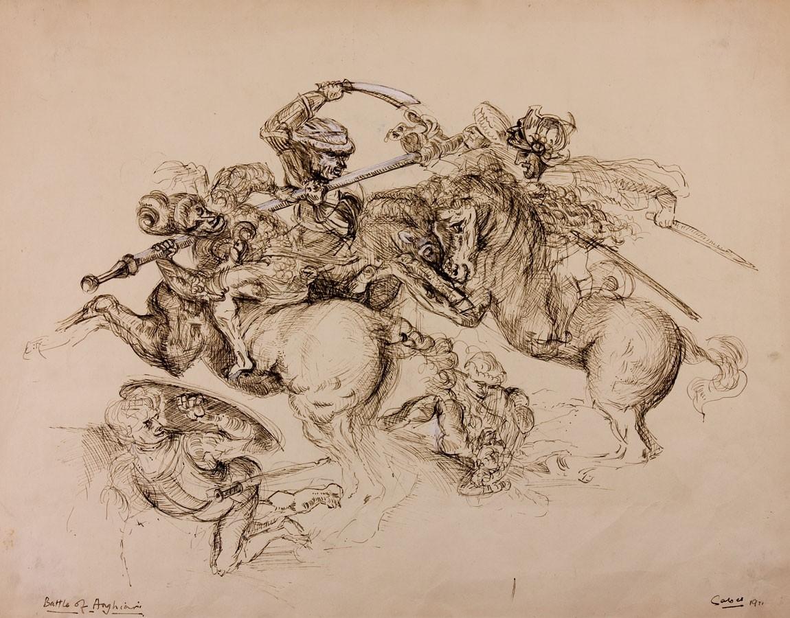 HD Quality Wallpaper | Collection: Artistic, 1150x900 Battle Of Anghiari