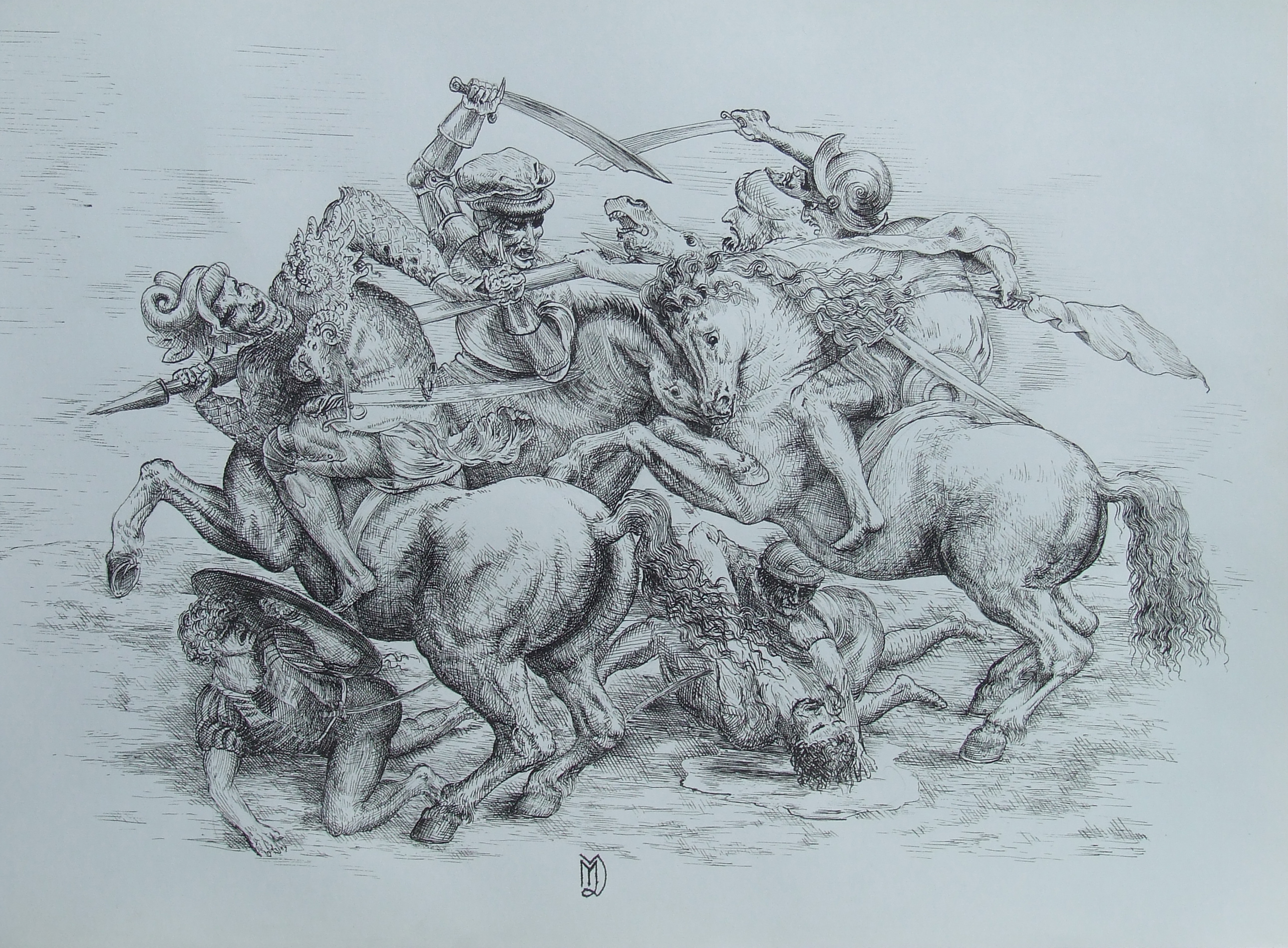 HD Quality Wallpaper | Collection: Artistic, 2580x1899 Battle Of Anghiari