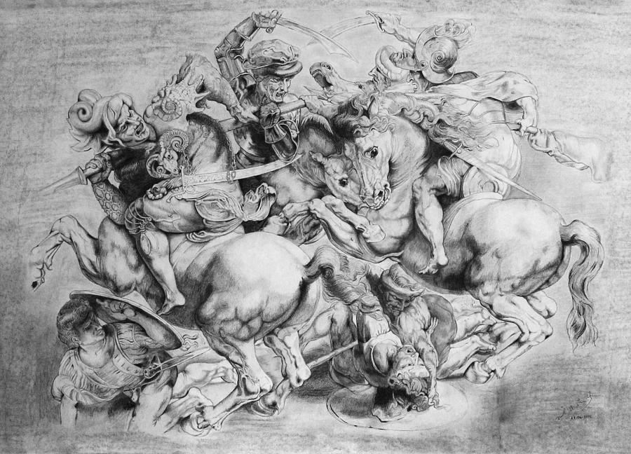 HD Quality Wallpaper | Collection: Artistic, 900x648 Battle Of Anghiari