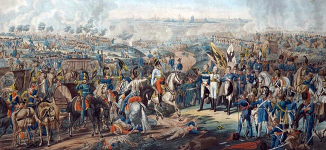 HD Quality Wallpaper | Collection: Artistic, 652x300 Battle Of Leipzig