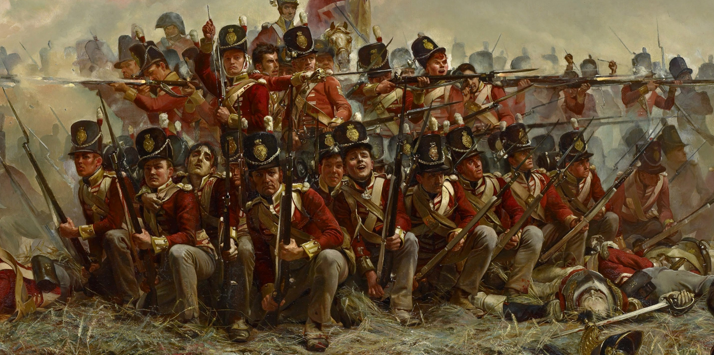 High Resolution Wallpaper | Battle Of Quatre Bras 2500x1243 px