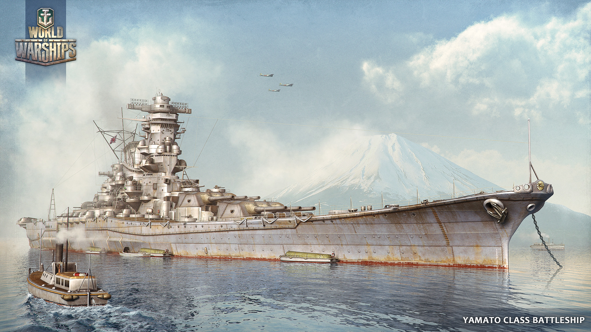 HD Quality Wallpaper | Collection: Sci Fi, 2048x1152 Battleship Yamato