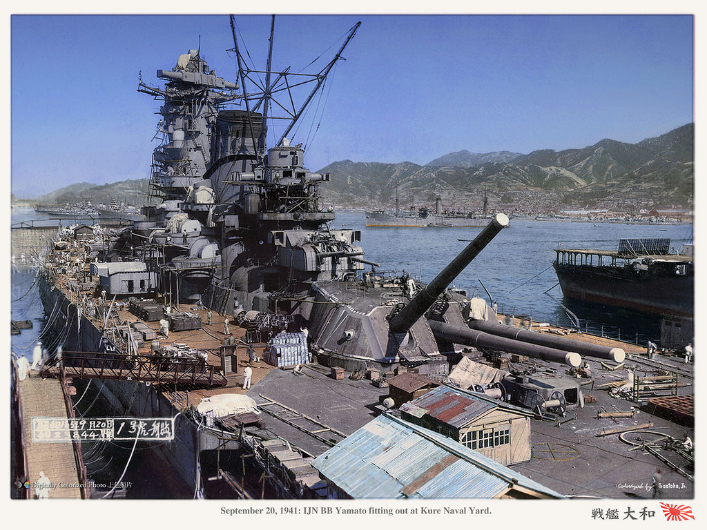 Battleship Yamato Backgrounds, Compatible - PC, Mobile, Gadgets| 1024x768 px