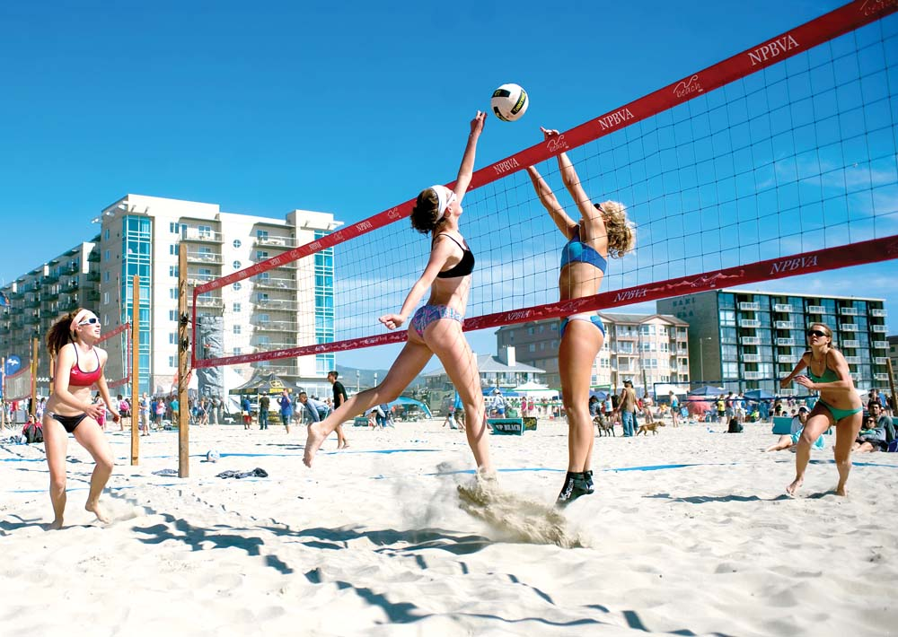 High Resolution Wallpaper | Beach Volleyball 1000x710 px