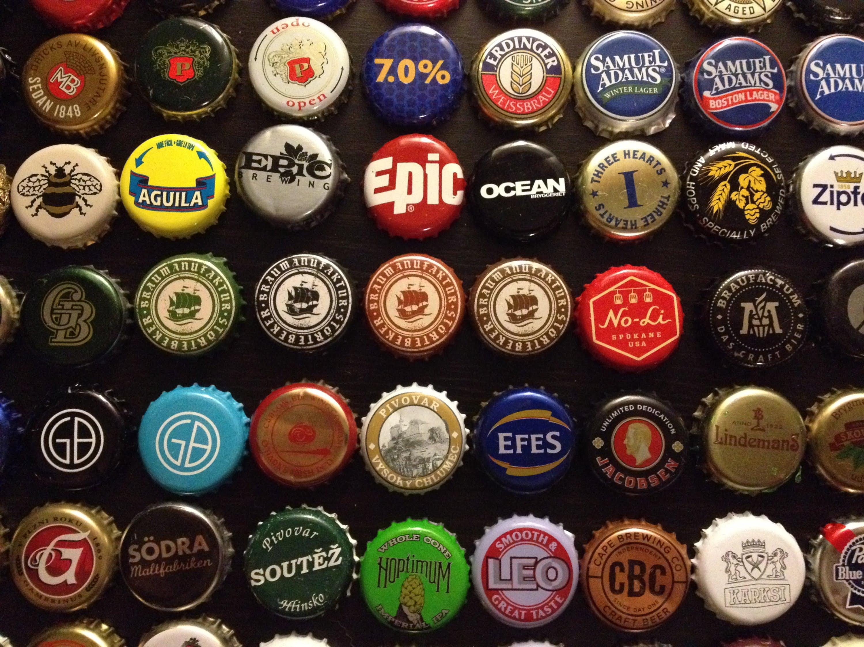 Beer Bottle Caps Backgrounds, Compatible - PC, Mobile, Gadgets| 3000x2250 px