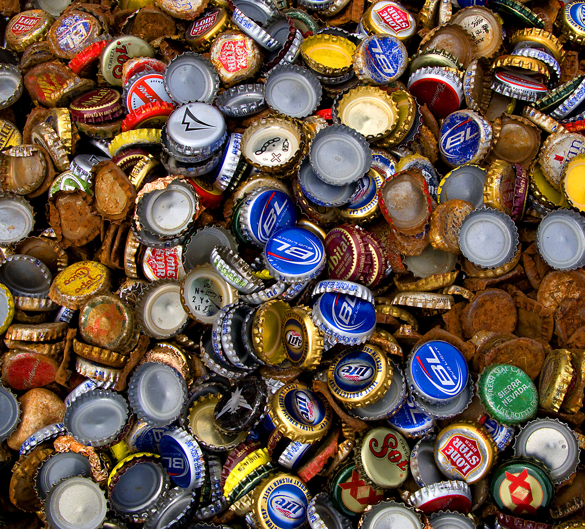 HD Quality Wallpaper | Collection: Misc, 2000x1809 Beer Bottle Caps