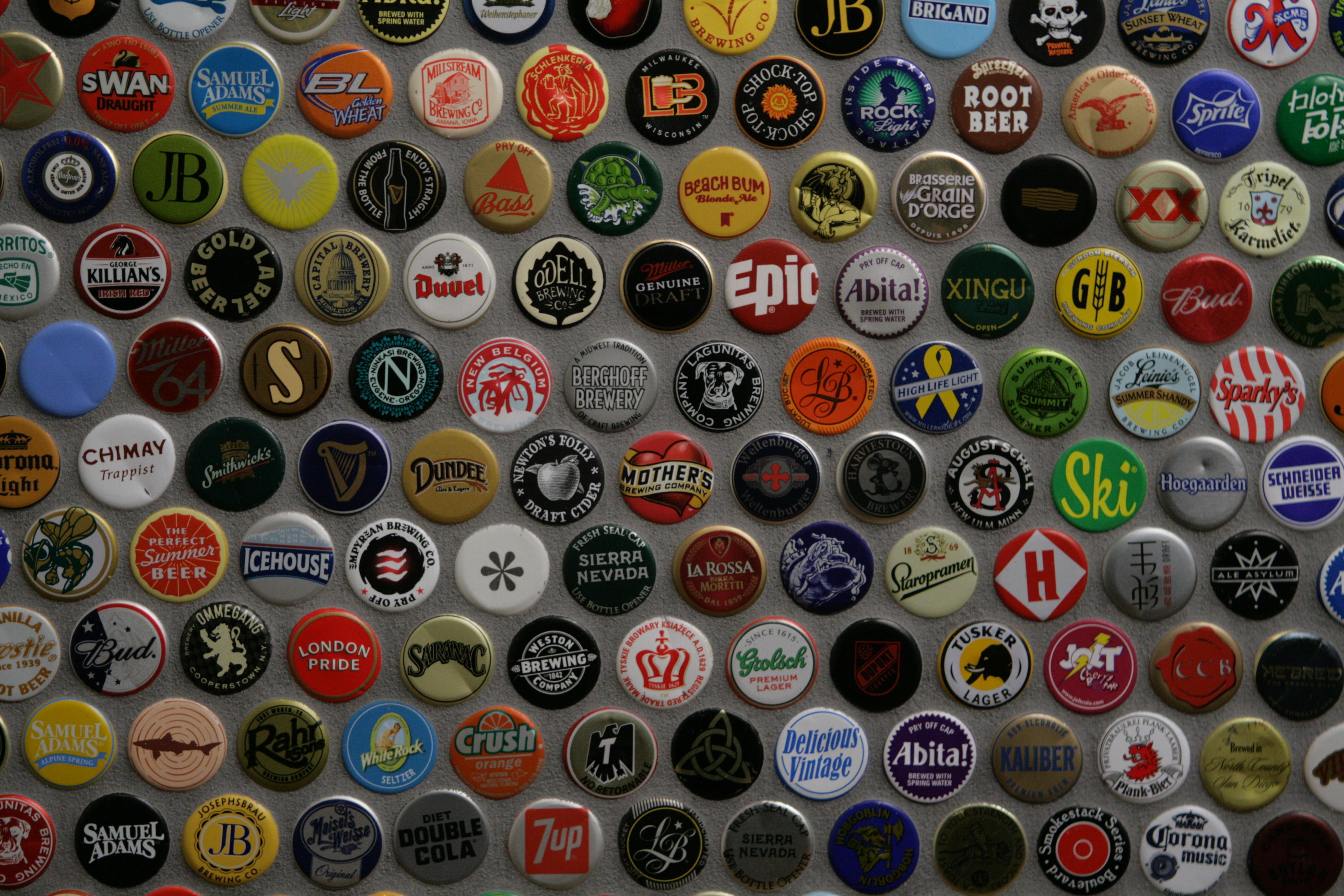 Nice wallpapers Beer Bottle Caps 3888x2592px