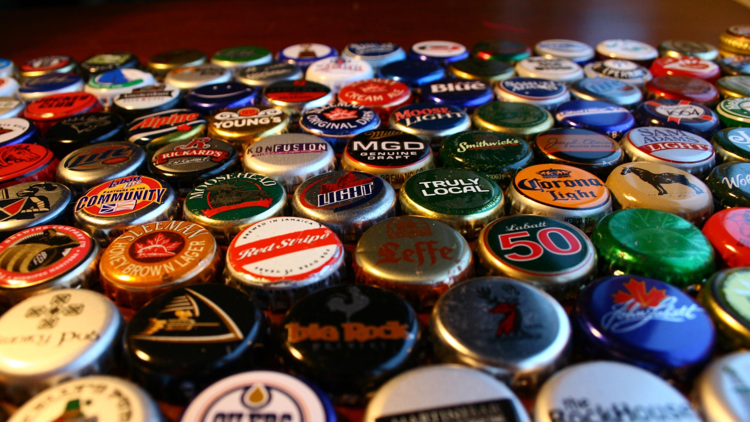 Images of Beer Bottle Caps | 2560x1440