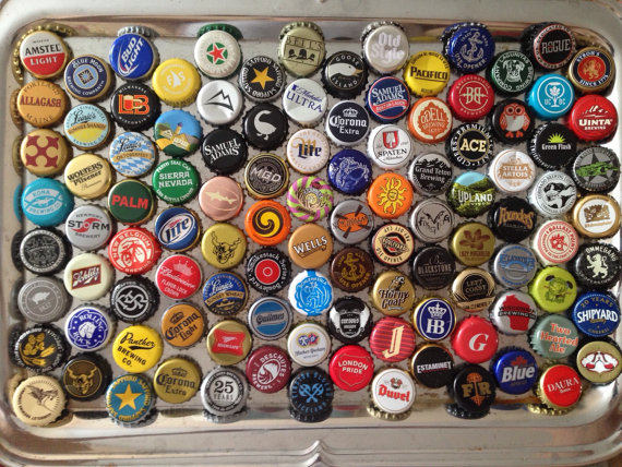 High Resolution Wallpaper | Beer Bottle Caps 570x428 px