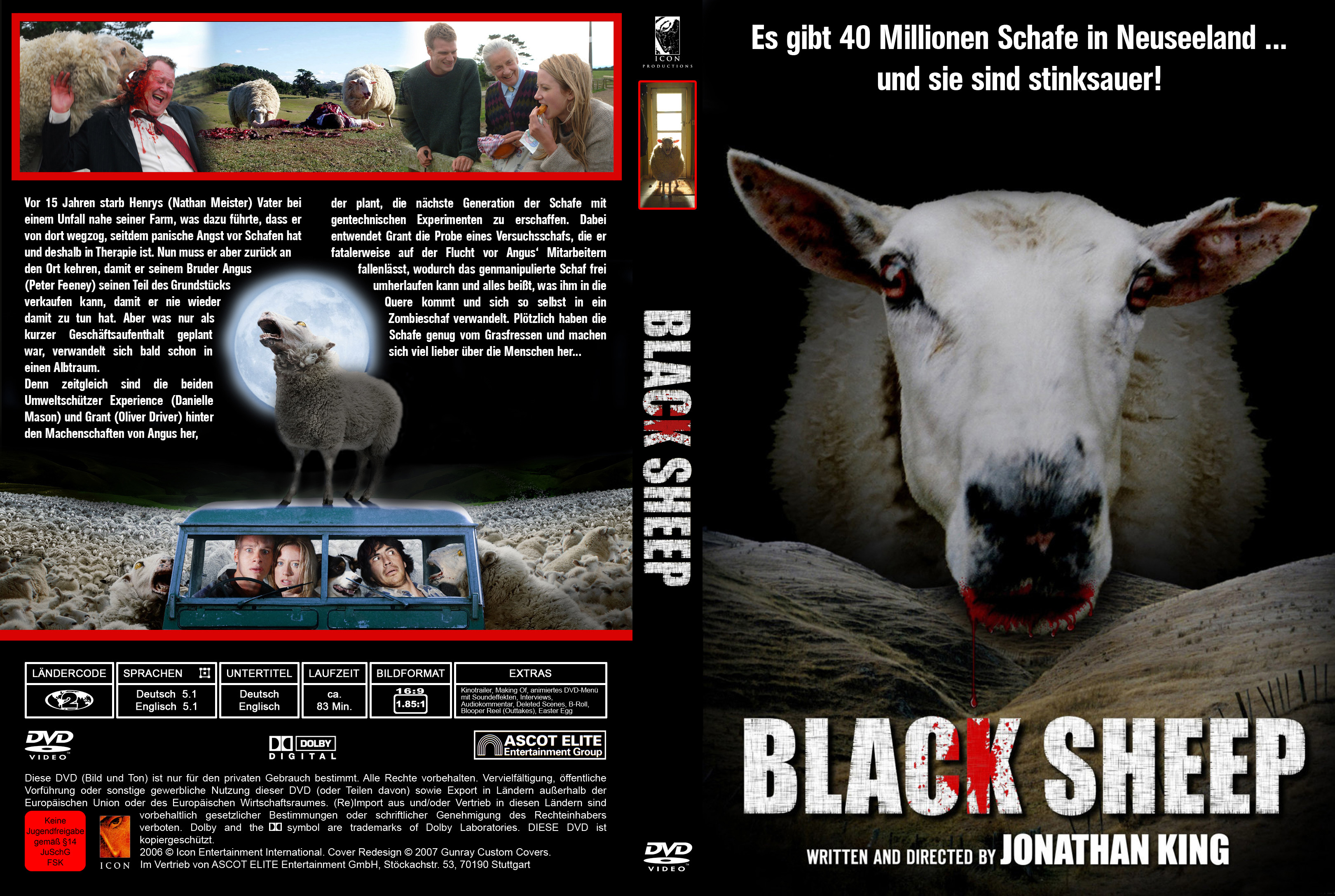 HD Quality Wallpaper | Collection: Movie, 3240x2175 Black Sheep (2006)