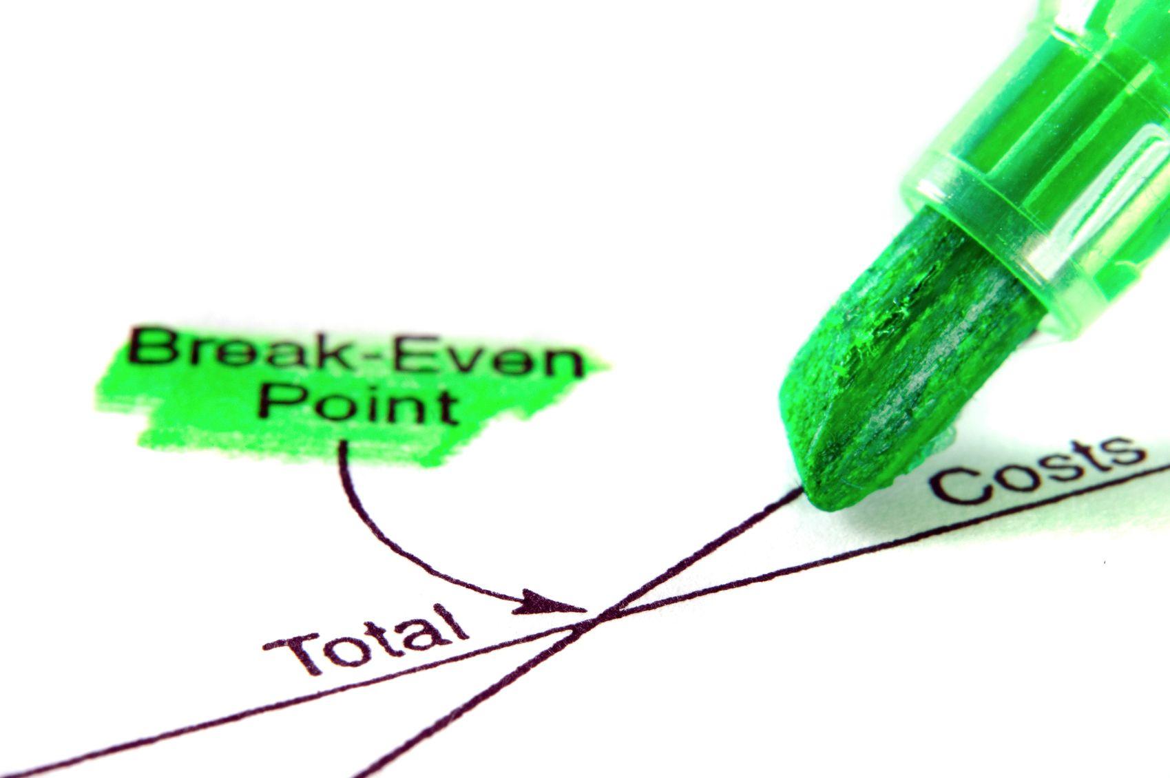 Break Even Point Images, Stock Photos & Vectors | Shutterstock