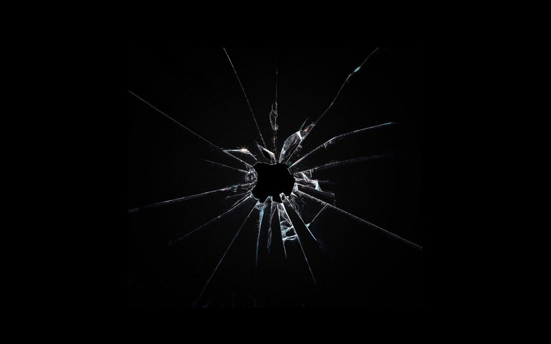 Nice Images Collection: Broken Glass Desktop Wallpapers