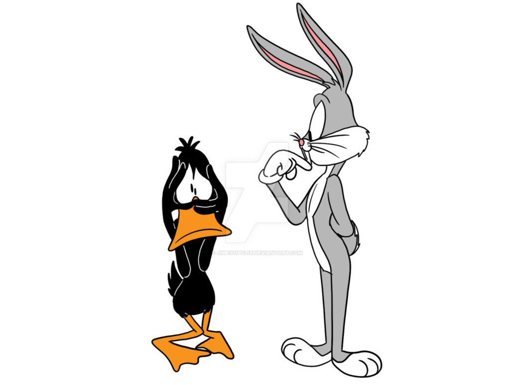 High Resolution Wallpaper | Bugs And Daffy 1032x774 px