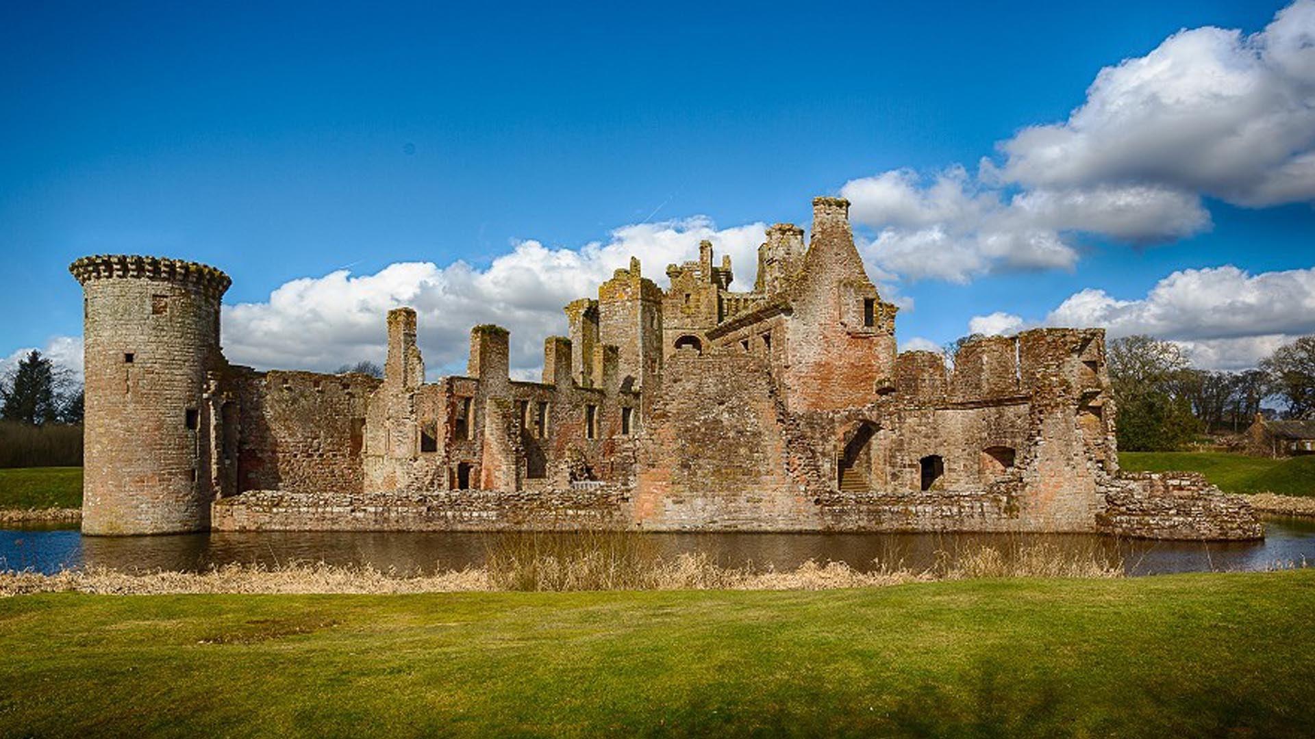Обои Caerlaverock Castle, scotland, руины, замок. Разное foto 7
