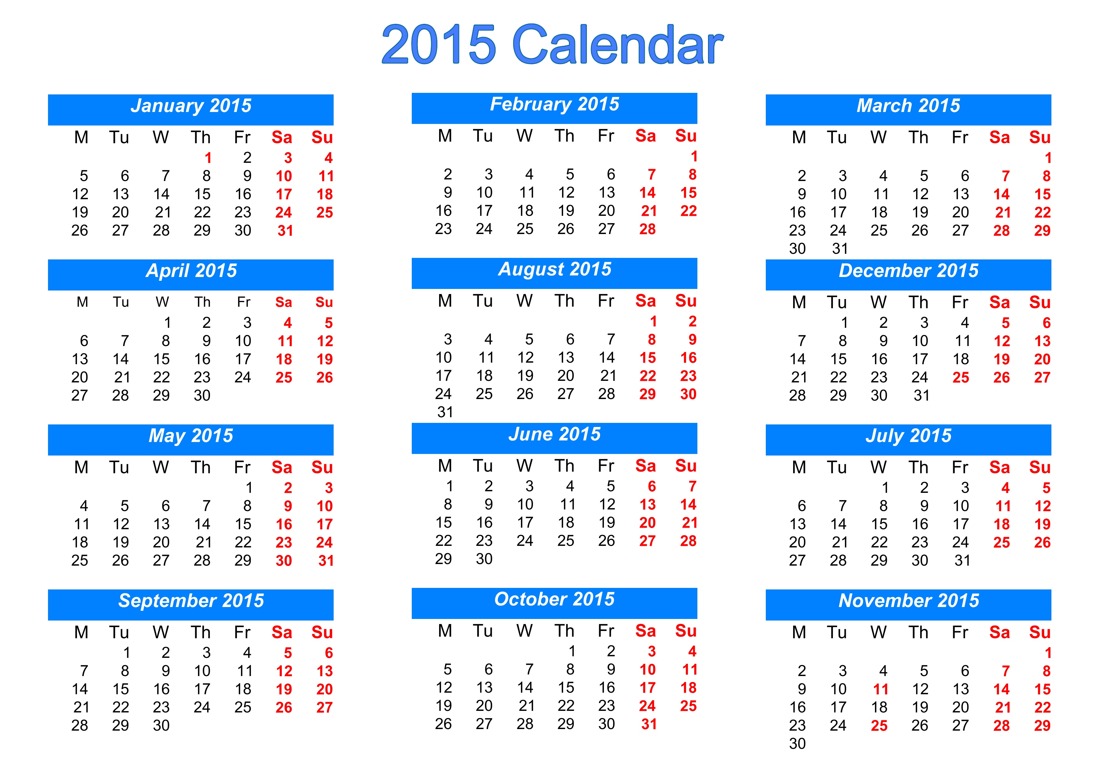 Calendar Pics, Misc Collection