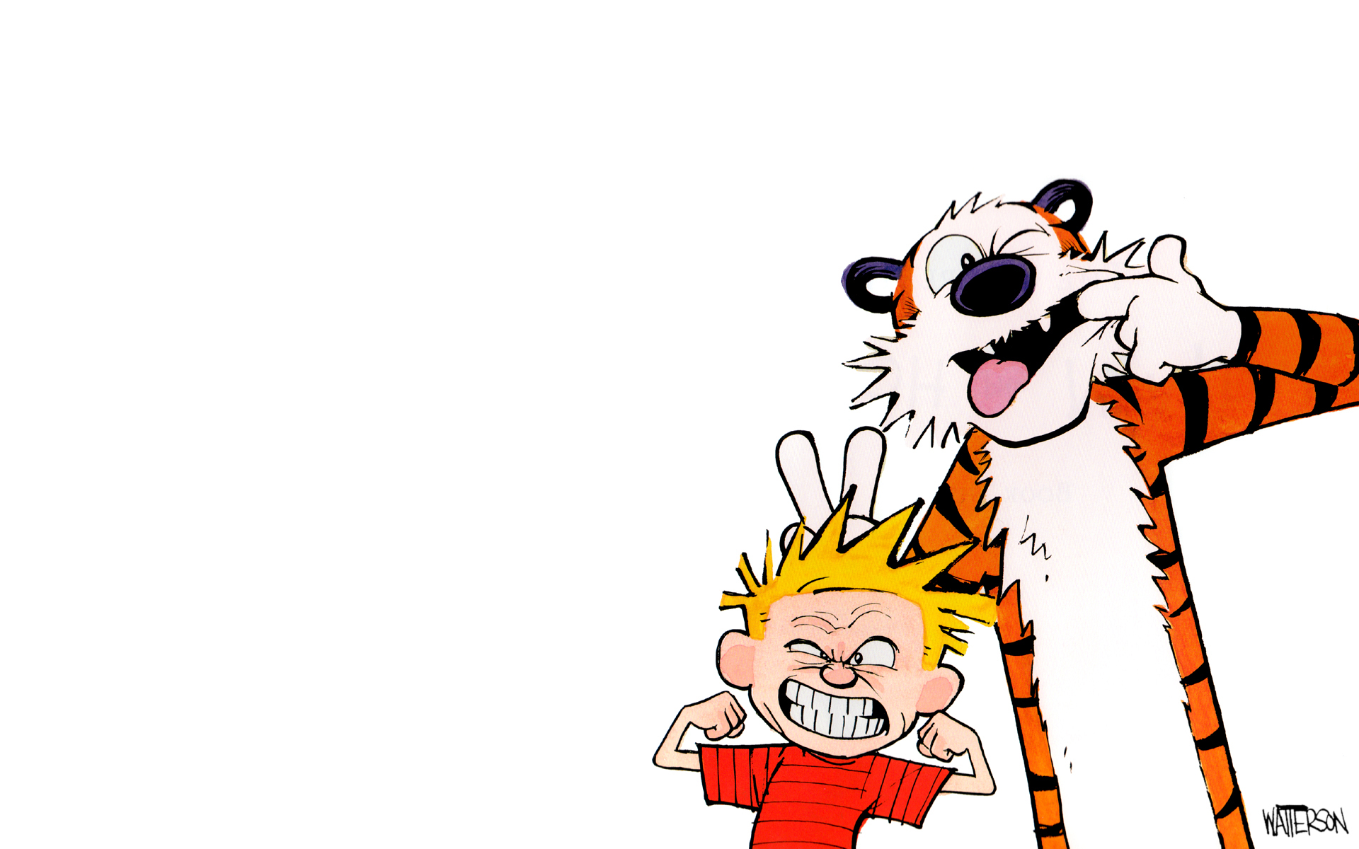 Calvin & Hobbes Backgrounds, Compatible - PC, Mobile, Gadgets| 1920x1200 px