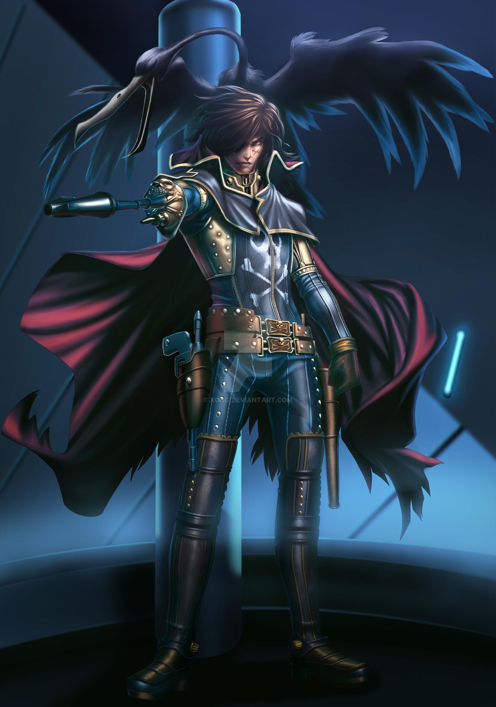 High Resolution Wallpaper | Captain Harlock 1600x2280 px