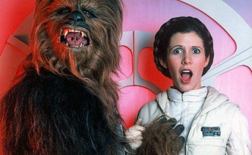 HD Quality Wallpaper | Collection: Celebrity, 520x321 Carrie Fisher