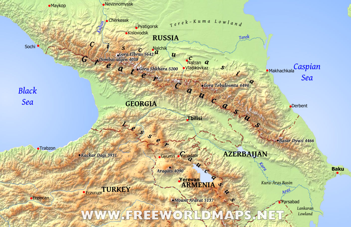 Caucasus Backgrounds, Compatible - PC, Mobile, Gadgets| 1400x906 px