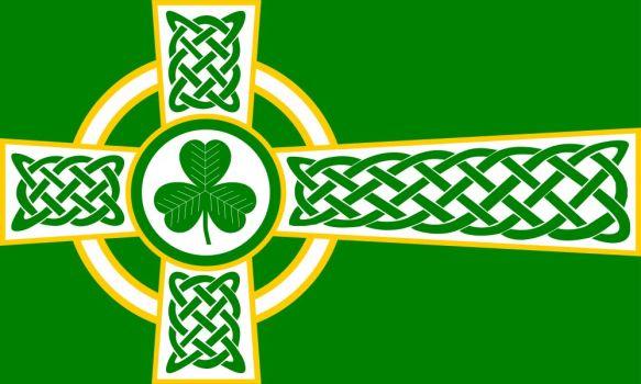 Nice wallpapers Celtic Cross Flag 583x350px