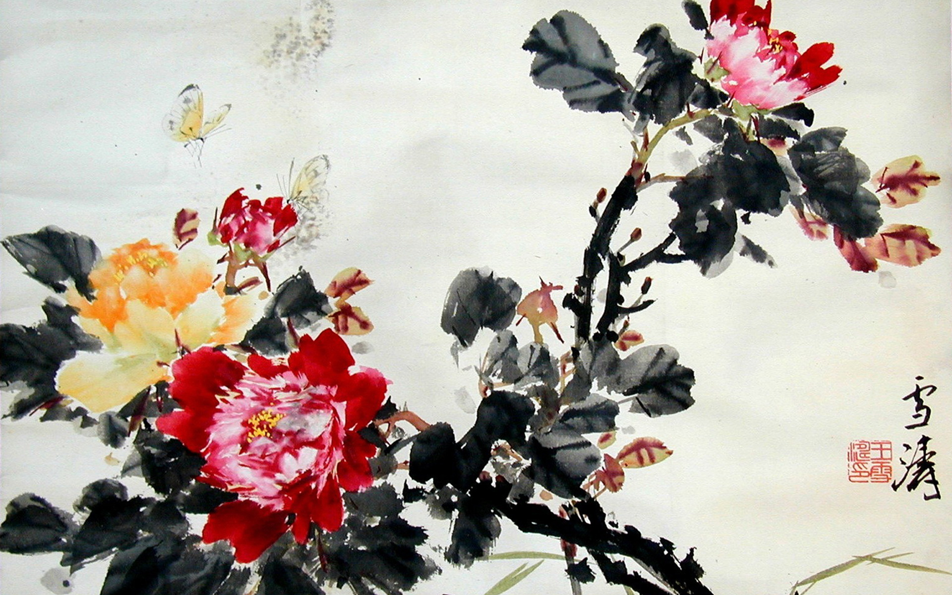 High Resolution Wallpaper | Chinese Artwork 1920x1200 px