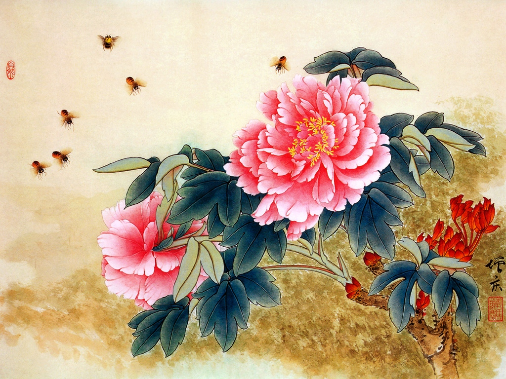 HD Quality Wallpaper | Collection: Artistic, 1024x768 Chinese Artwork