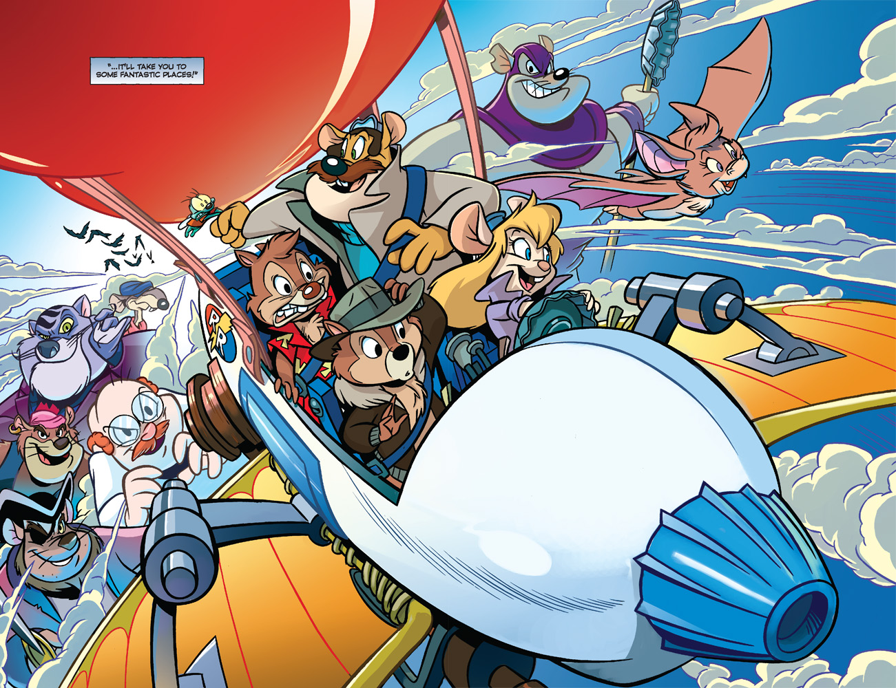 HD Quality Wallpaper | Collection: Cartoon, 1301x1000 Chip 'n Dale Rescue Rangers