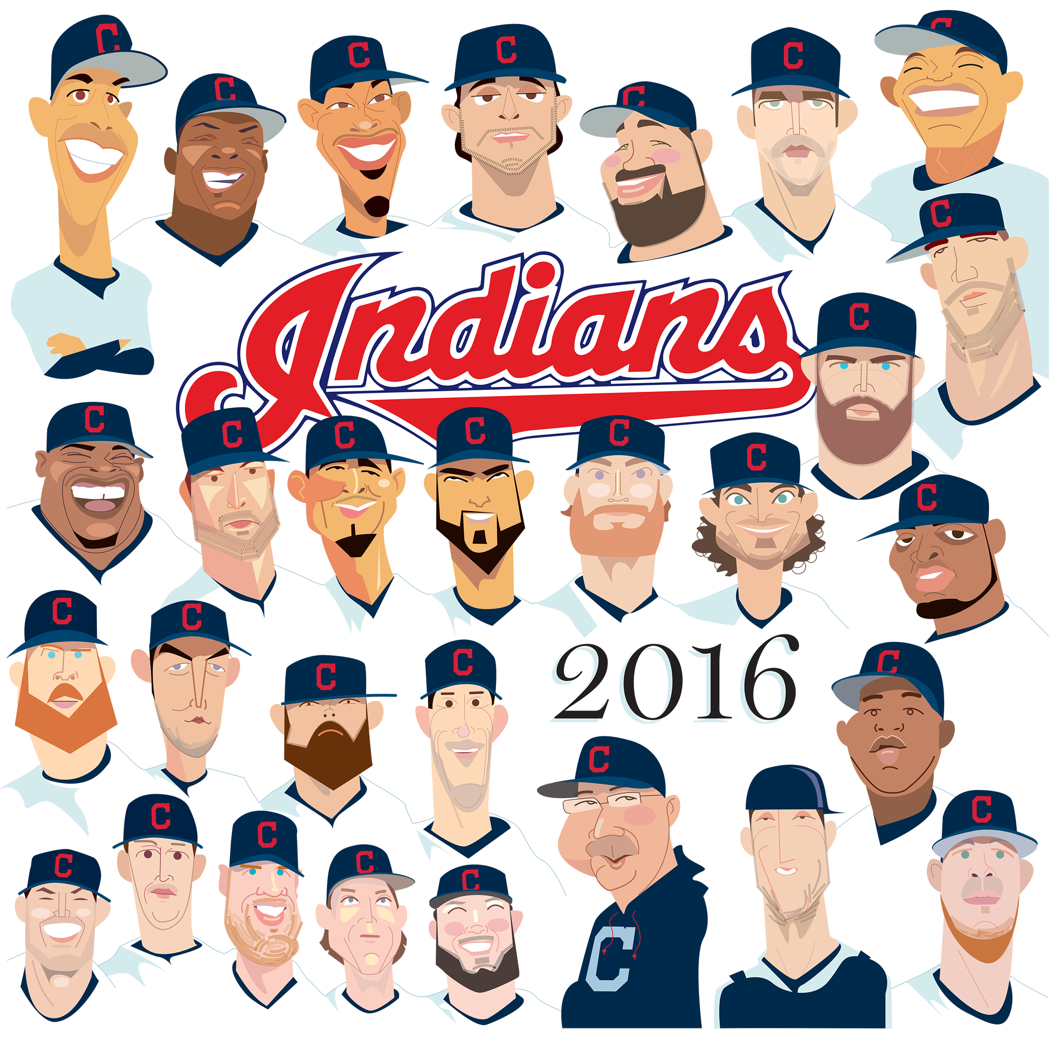 HD Quality Wallpaper | Collection: Sports, 2048x2036 Cleveland Indians