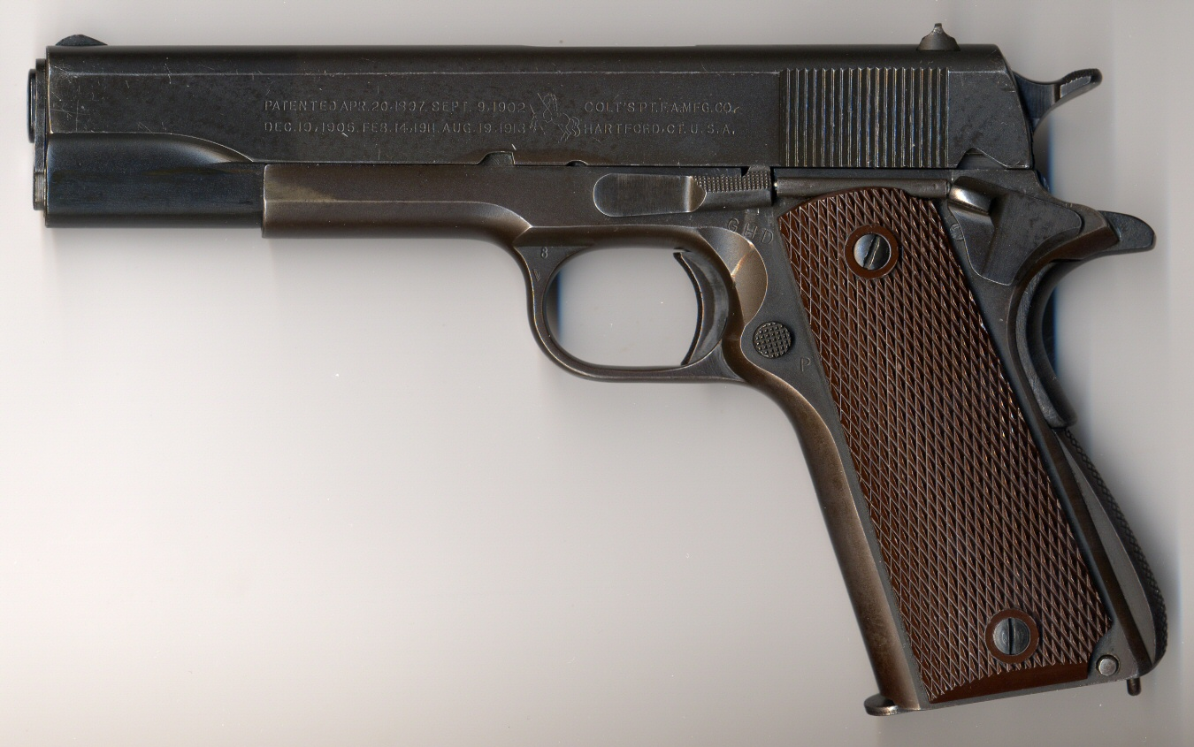 HD Quality Wallpaper | Collection: Weapons, 1350x845 Colt 1911