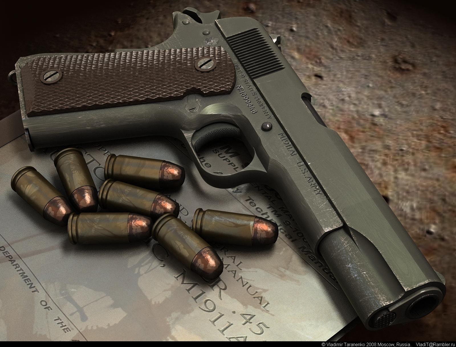 HD Quality Wallpaper | Collection: Weapons, 1600x1220 Colt M1911