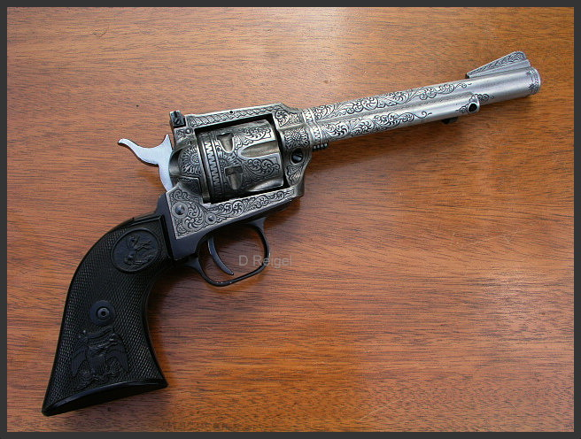 HD Quality Wallpaper | Collection: Weapons, 656x496 Colt New Frontier Revolver