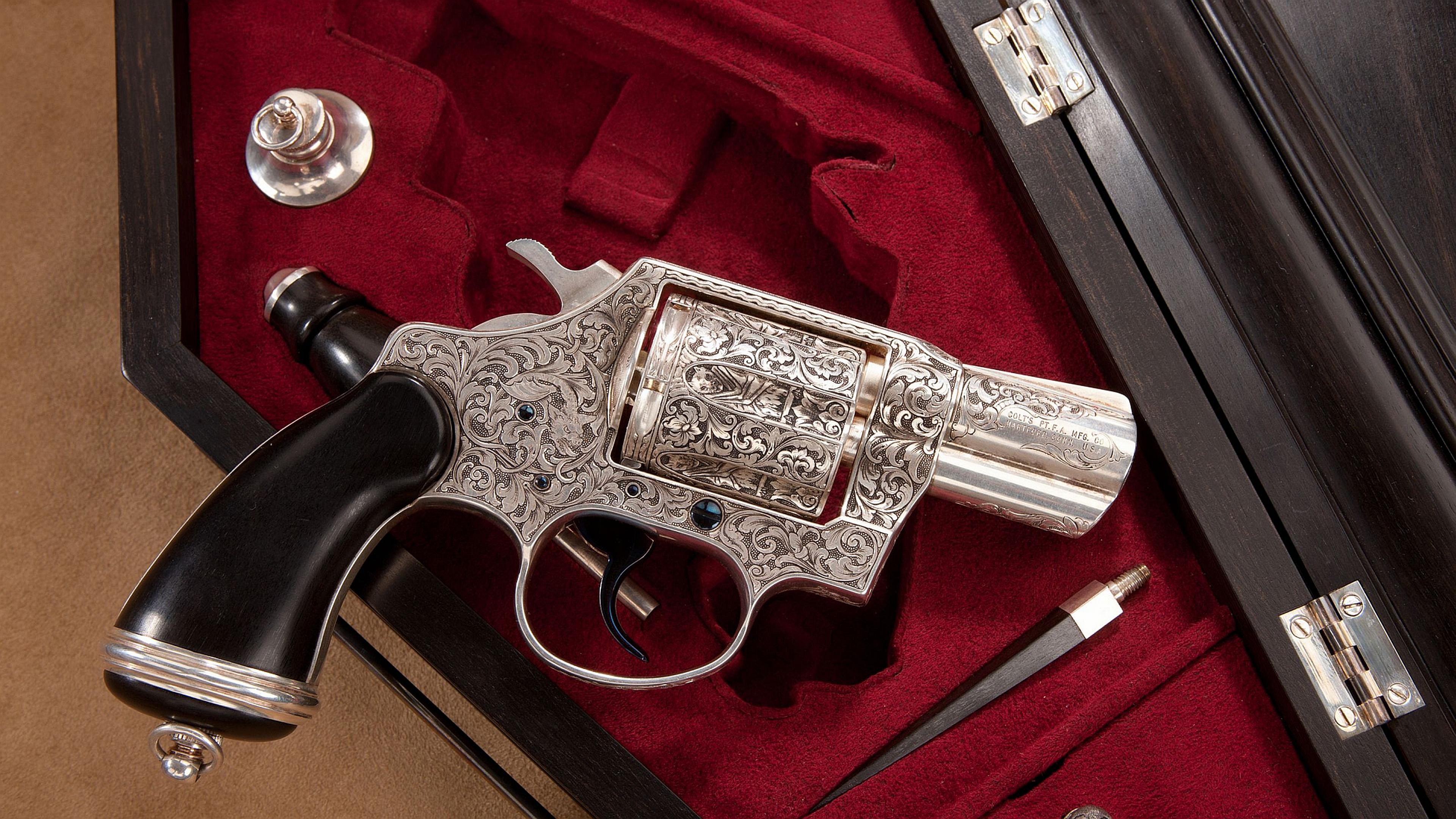 High Resolution Wallpaper | Colt Revolver 3840x2160 px