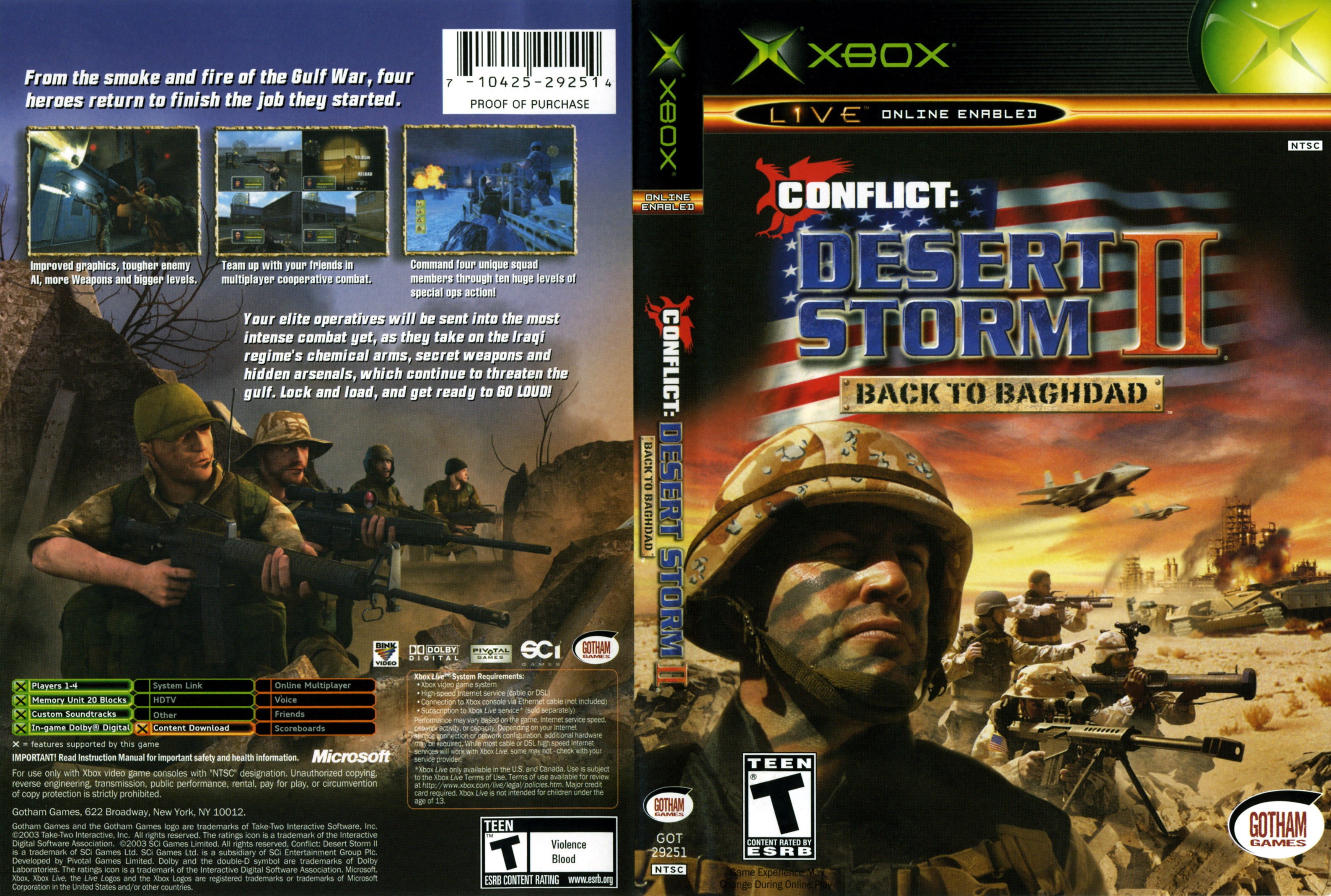 Conflict: Desert Storm II: Back To Baghdad High Quality Background on Wallpapers Vista