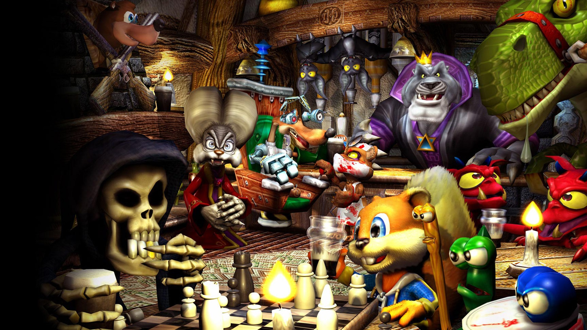 Conker's Bad Fur Day Backgrounds, Compatible - PC, Mobile, Gadgets| 1920x1080 px