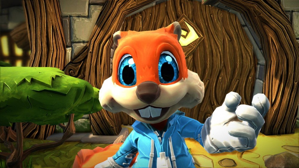 HD Quality Wallpaper | Collection: Video Game, 1000x562 Conker's Bad Fur Day