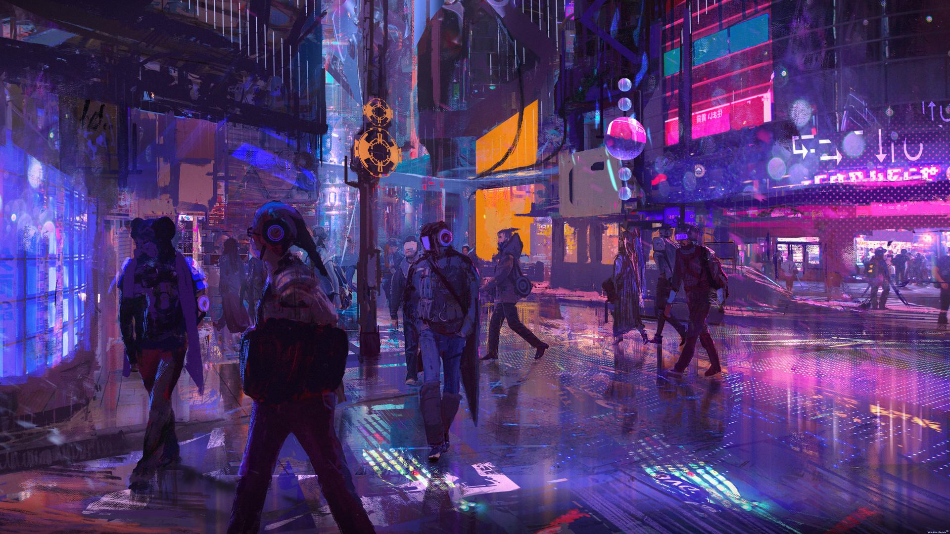 Nice wallpapers Cyberpunk 1920x1080px