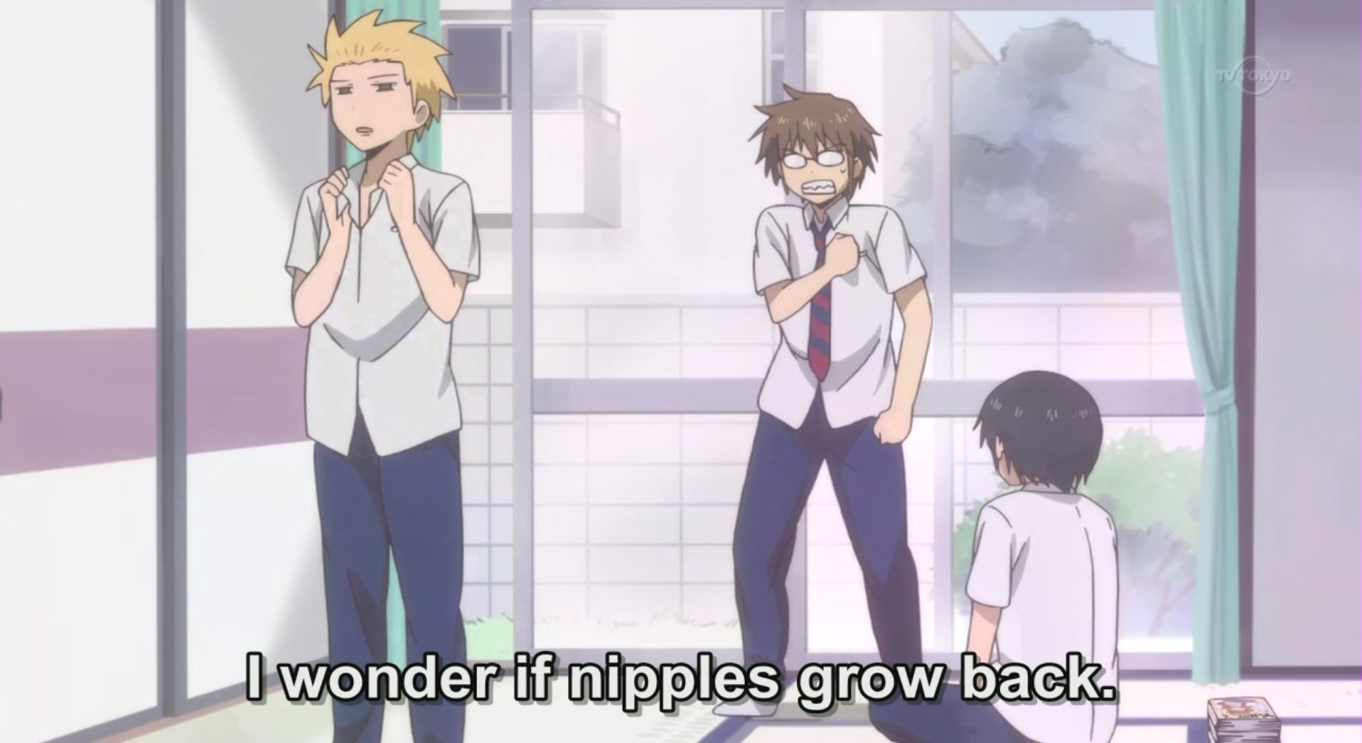 HD Quality Wallpaper   Collection: Anime, 1916x1046 Daily Lives Of High School Boys