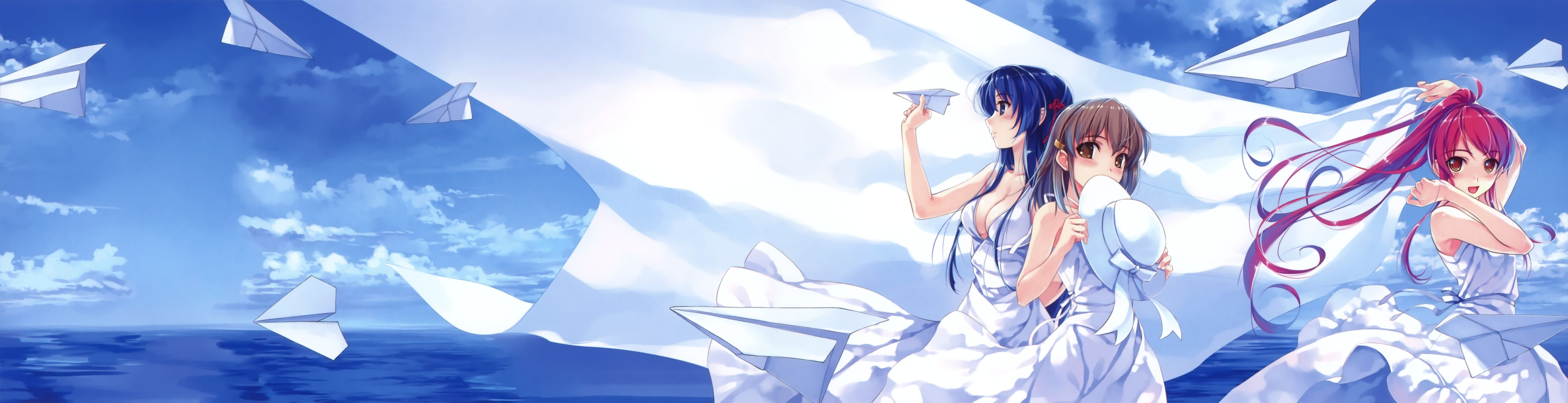 Nice Images Collection: Deep Blue Sky & Pure White Wings Desktop Wallpapers