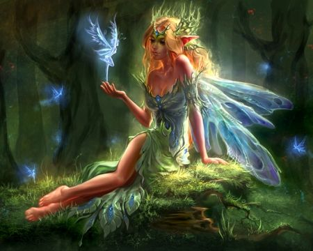 Nice Images Collection: Elf Fairy Desktop Wallpapers