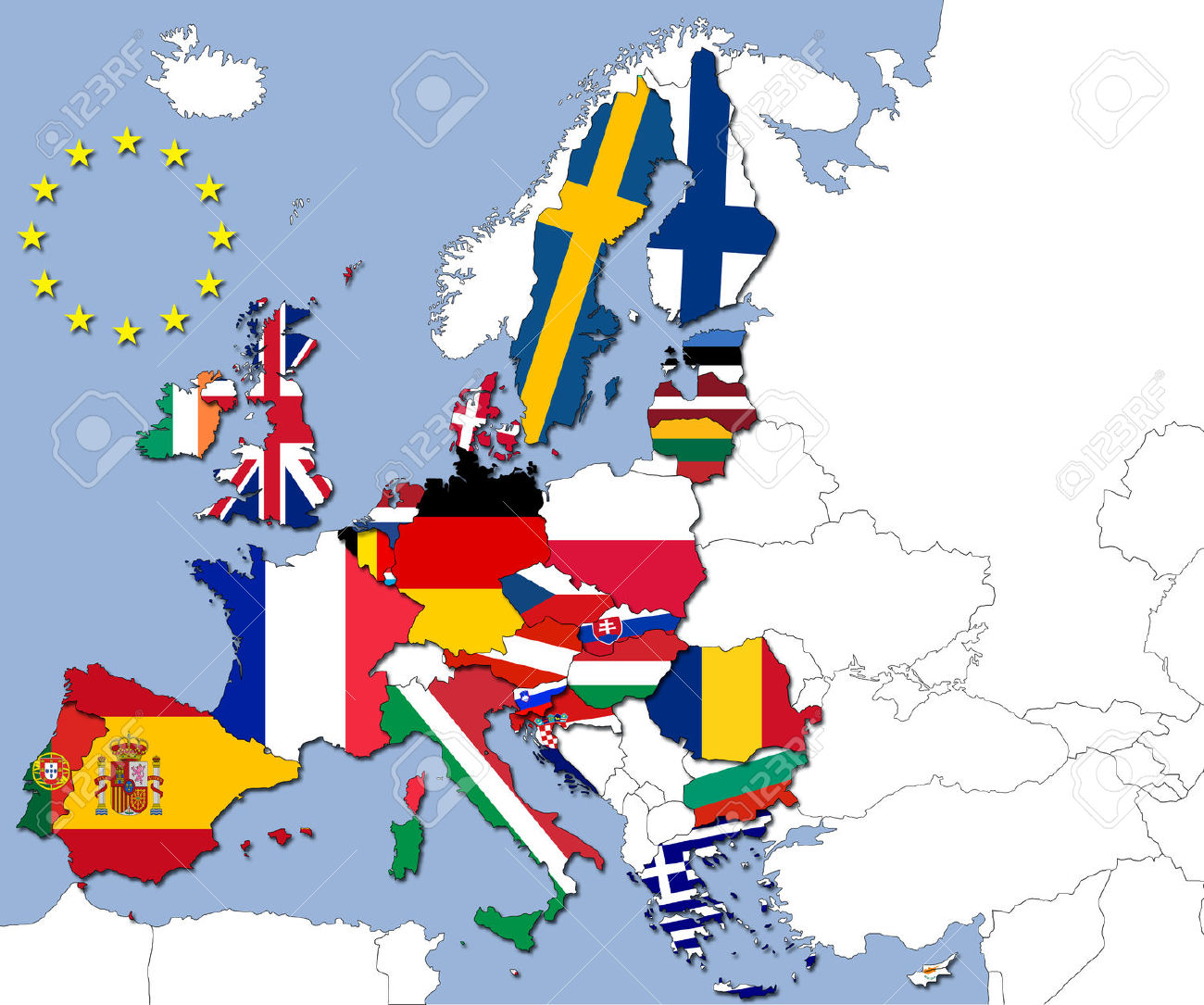 HD Quality Wallpaper | Collection: Misc, 1300x1085 European Union Flags