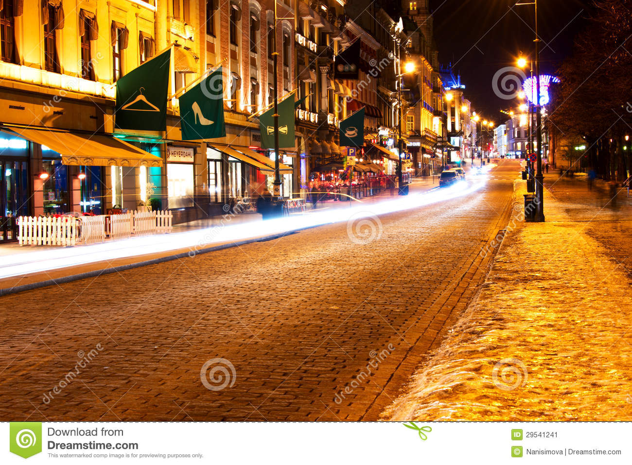 Evening On Karl Johan Street High Quality Background on Wallpapers Vista