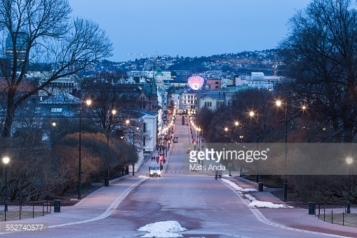 Evening On Karl Johan Street Backgrounds on Wallpapers Vista